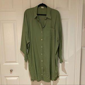 Aritzia Wilfred Boyfriend Shirt Dress